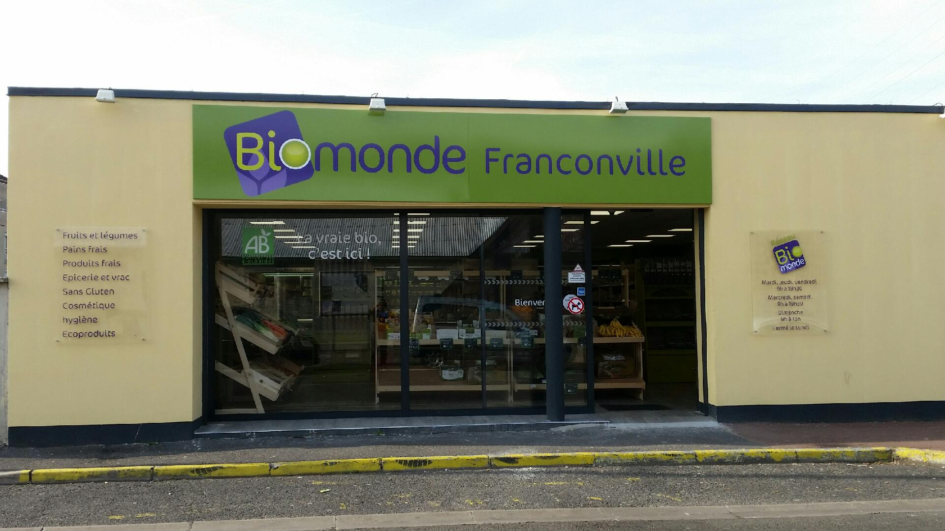 un nouveau magasin bio ind pendant biomonde. Black Bedroom Furniture Sets. Home Design Ideas